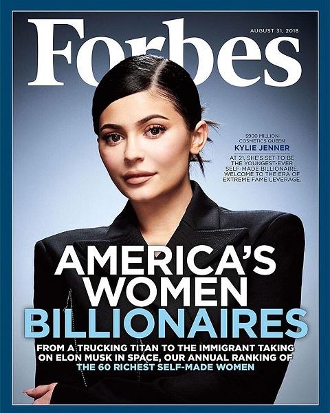 La copertina di Forbes con Kylie Jenner