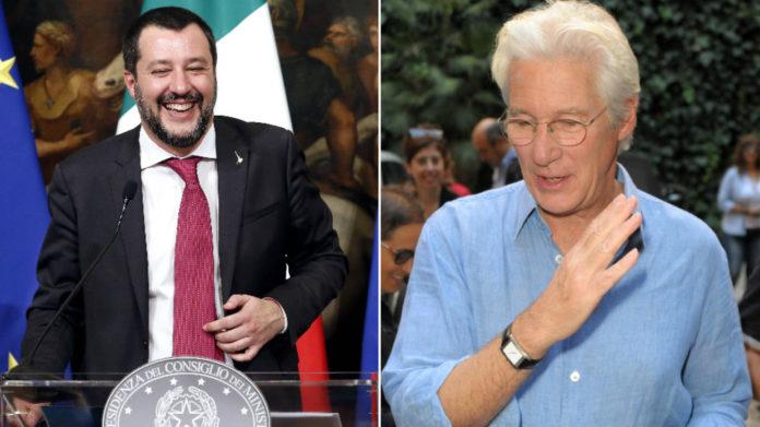 Richard Gere contro Salvini