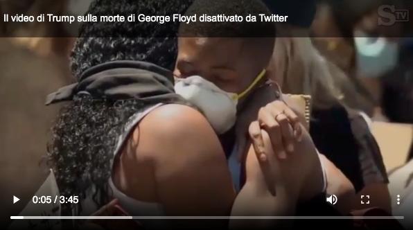 Tweet di Trump su George Floyd