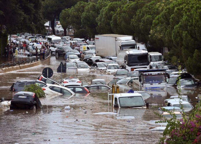 Palermo nubifragio cambiamento climatico 2020