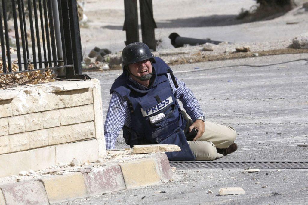 Giornalista colpito in Siria.