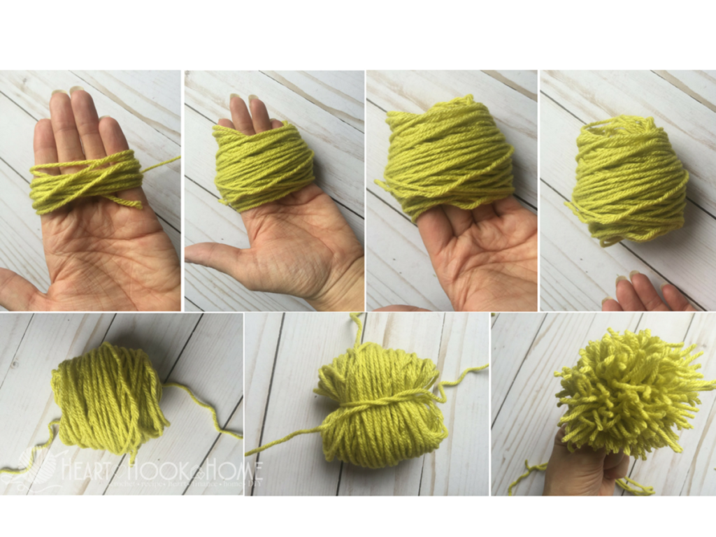come fare un pon pon di lana con le sole mani