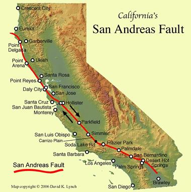Faglia di Sant'Andrea, mappa