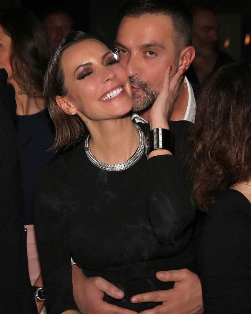 Karina Cascella e Max Colombo, suo attuale compagno