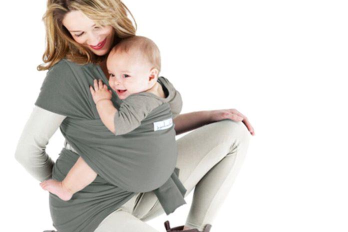Fascia porta bebè grigia