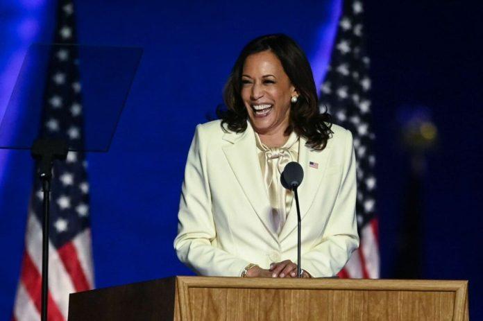 Kamala Harris dicsorso prima vice presidente donna
