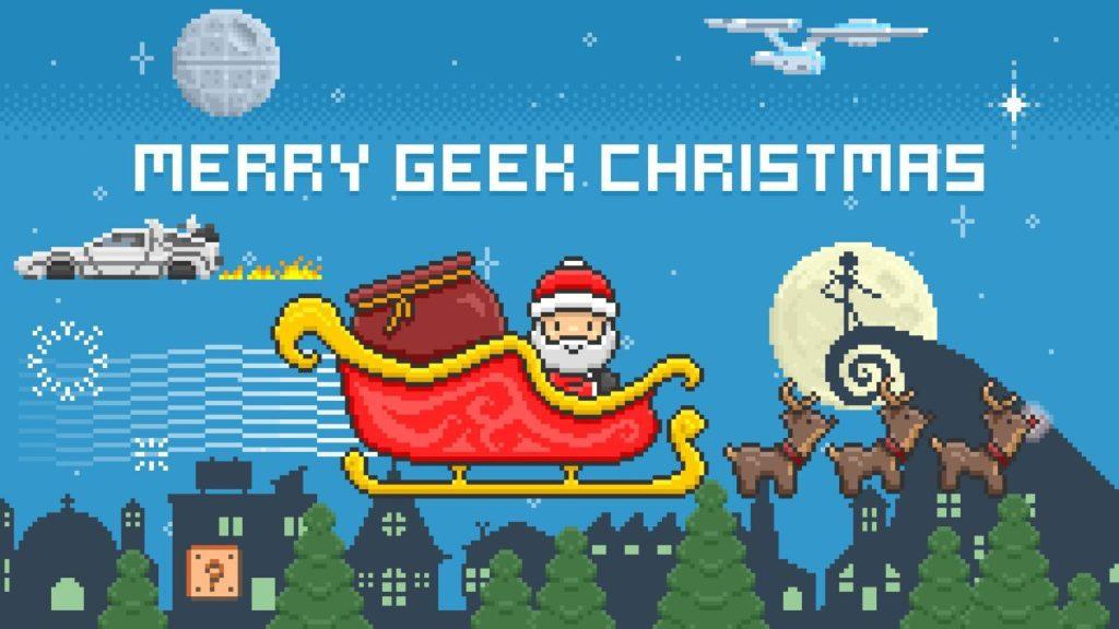 auguri di buon Natale nerd