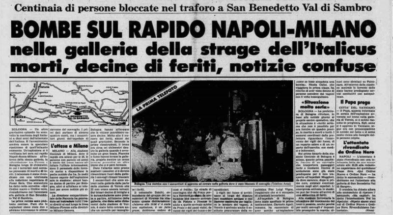 Corriere strage del Rapido 904.
