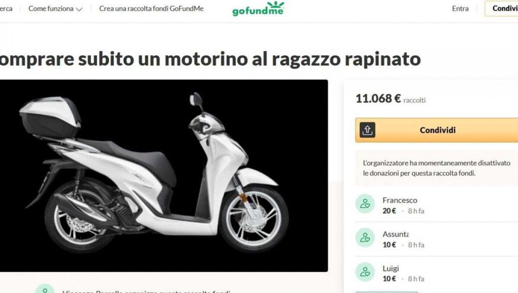 Rider picchiato a Napoli raccolta fondi.