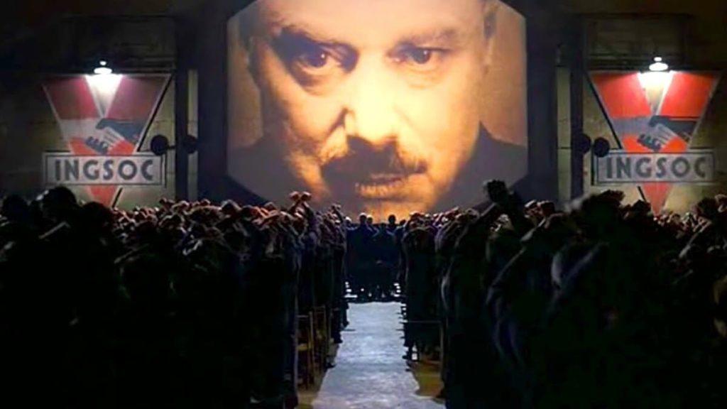 immagine tratta dal film Orwell 1984 di Micheal Radford, felede trasposizione filmica del romanzo di George Orwell.