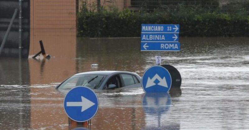 Maltempo situazione in Italia.