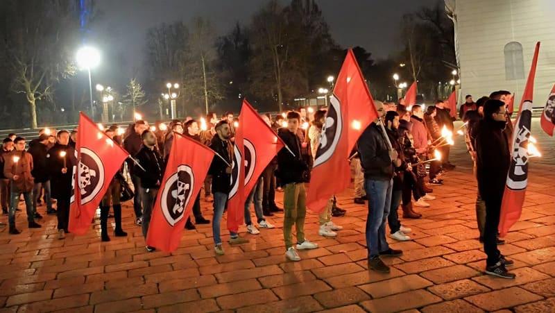 contro la propaganda nazifascista raduno