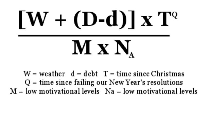 Blue Monday formula.