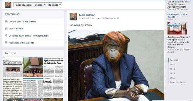 Il reato di Fabio Ranieri contro  Cécile Kyenge