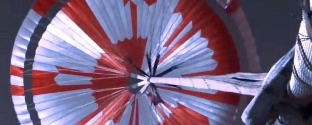 mars 2020 e il messaggio segreto contenuto nel paracadute di Perseverance atterrato su Marte.