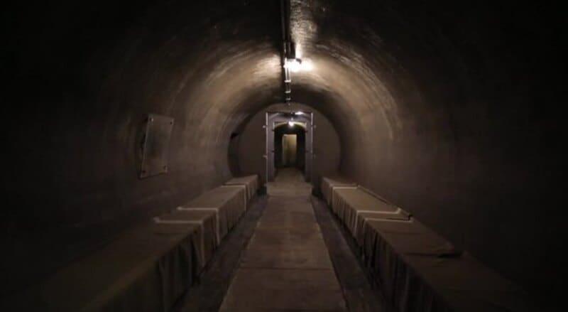 I bunker dei Savoia e di Mussolini.