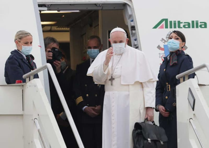 Papa Francesco in Iraq_partenza