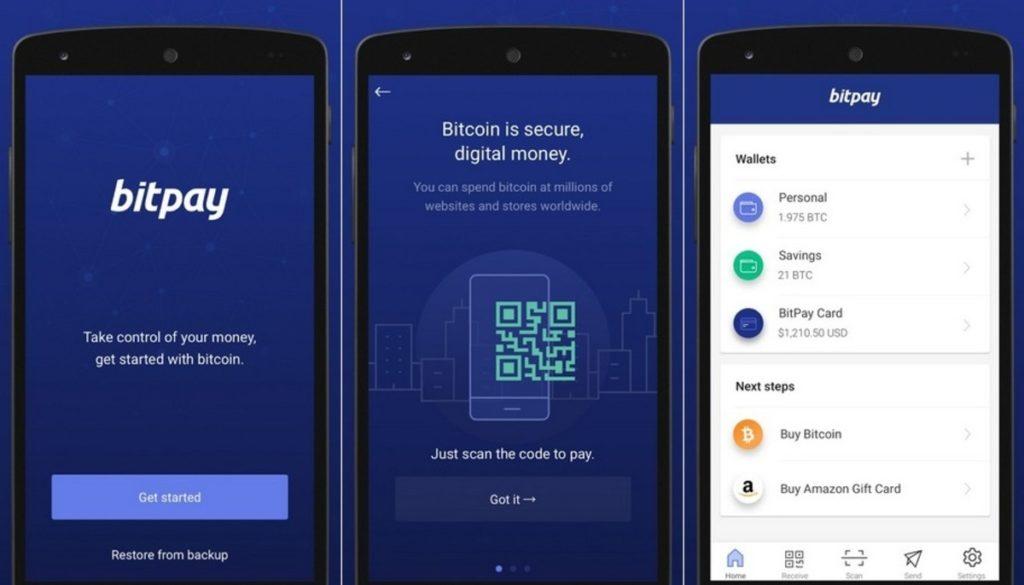 Bitcoin app.