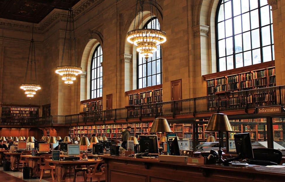 Giornata mondiale del libro 2021 a New York, USA: la Biblioteca Pubblica di New York
