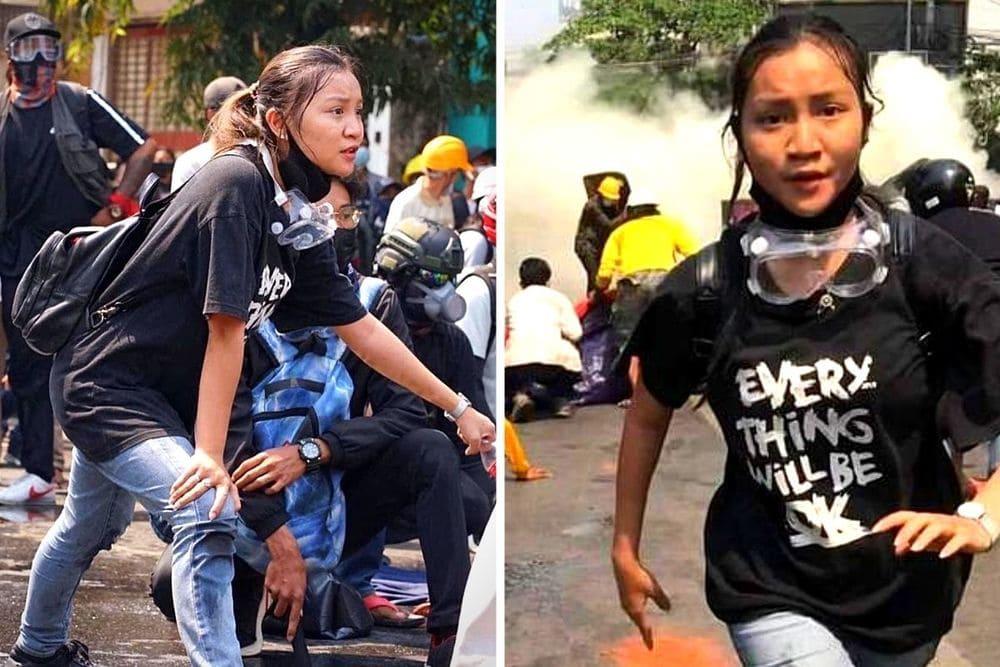 birmania Kyal Sin Angel uccisa da colpo alla testa