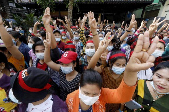 birmania proteste