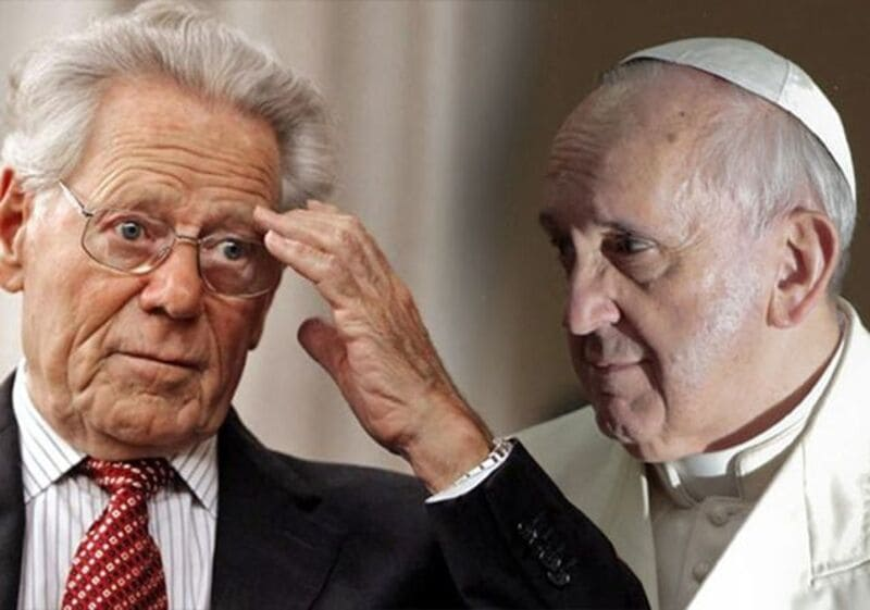 Hans Küng, il dissidente sull'infallibilità papale.