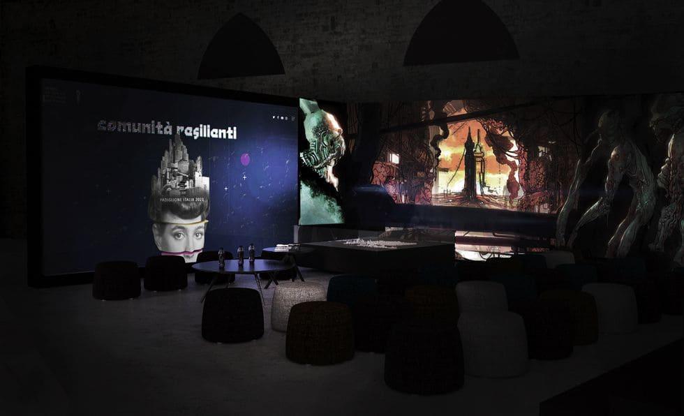 """Il Padiglione Italia 2021 è una """"giungla abitata da strane creature""""."""