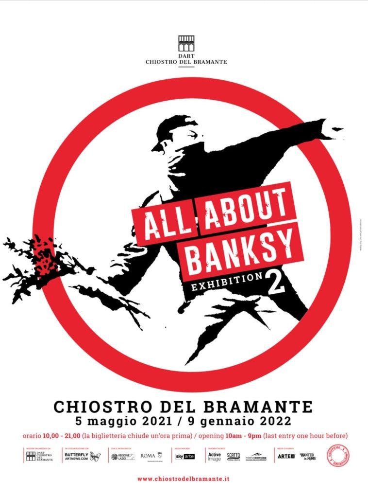 """""""All about Banksy"""", una rassegna della poetica artistica dello street artist."""