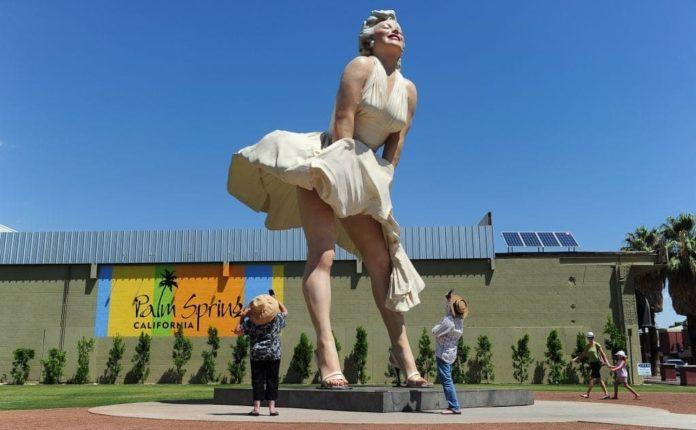 Statua di Marilyn con la gonna al vento