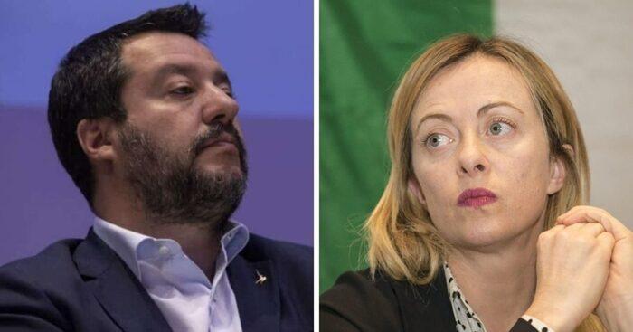 Migranti a Lampedusa: Meloni chiede il blocco navale, Salvini vuole un incontro con Draghi