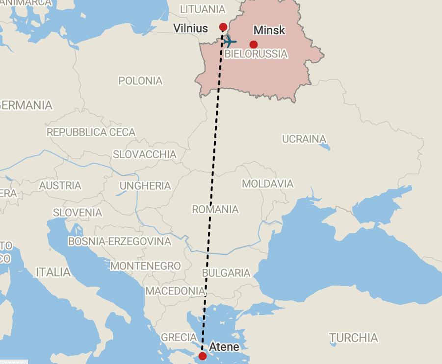 Volo dirottato in Bielorussia