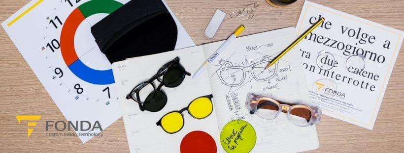 Alcune delle soluzioni di Fonda Vision per il sistema visivo e la Fonda Academy
